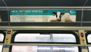 BE Vegan tramcampagne Melk Niet Goed Voor Elk!